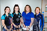 Sonya Smith,Orlaith Tangney Killarney, Rita McCArthy and Margaret Healy Listowel at the Badminton in Killarney on Sunday