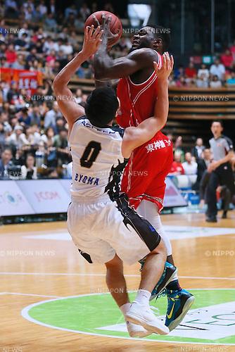 Addison Spruill (Phoenix), SEPTEMBER 13, 2015 - Basketball : NBLTKbj league DREAM GAMES Match between Hamamatsu Higashimikawa Phoenix 73-83 AISIN SeaHorses Mikawa at Ota-City General Gymnasium, Tokyo, Japan. (Photo by Sho Tamura/AFLO SPORT)