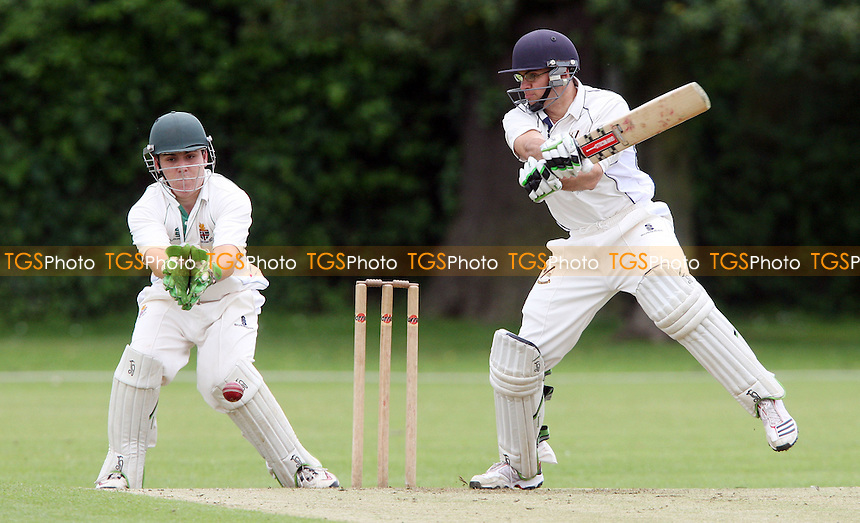 A D Cruz of Upminster in batting action - Upminster CC vs Harlow CC, Essex League Division One at Upminster Park, Upminster - 09/06/12 - MANDATORY CREDIT: Rob Newell/TGSPHOTO - Self billing applies where appropriate - 0845 094 6026 - contact@tgsphoto.co.uk - NO UNPAID USE..