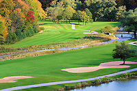 Scenic view across the golf course in the fall