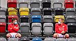 nph00351: Fussball, 1. Bundesliga, Saison 19/20, 26. Spieltag, Fortuna Düsseldorf - FC Paderborn 07, 16.05.2020:<br /> Die Auswechselspieler Jean Zimmer (F95) und Rouwen Hennings (F95)<br />  <br /> <br /> Nur für journalistische Zwecke! Only for editorial use!<br /> <br /> Gemäß den Vorgaben der DFL Deutsche Fußball Liga ist es untersagt, in dem Stadion und/oder vom Spiel angefertigte Fotoaufnahmen in Form von Sequenzbildern und/oder videoähnlichen Fotostrecken zu verwerten bzw. verwerten zu lassen. DFL regulations prohibit any use of photographs as image sequences and/or quasi-video. <br /> <br /> Foto: Moritz Müller/Pool / via Meuter/nordphoto