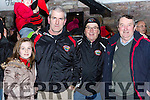 Clodagh Sheehan, John Sheehan, Humphrey Shea and Jim O'Sullivan at the Glenbeigh/Glencar team homecoming in Glenbeigh on Monday night
