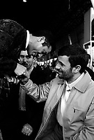 Teheran, Iran, March 30, 2007.As Iranian President Mahmoud Ahmadinejad is attending the Friday prayer at the University of Teheran, under the direction of Ayatollah Ahmad Khamenei, Imam of Teheran, common Iranian worshippers come to him to congratulate him or ask him requests.