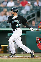 April 13, 2009:  Designated Hitter Michael Stanton (44) of the Jupiter Hammerheads, Florida State League Class-A affiliate of the Florida Marlins, during a game at Roger Dean Stadium in Jupiter, FL.  Photo by:  Mike Janes/Four Seam Images