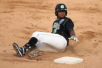 Geulin Beltre (26) of the Kane County Cougars during a game against the Clinton LumberKings at Elfstrom Stadium on April 23, 2011 in Geneva, Illinois. Photo by Chris Proctor/Four Seam Images