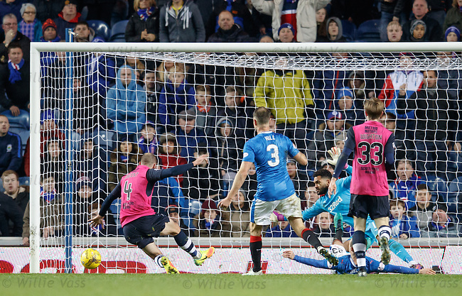 James Vincent misses an open goal for Dundee