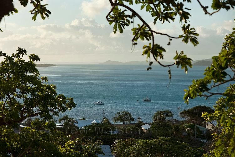 View of Thursday Island from Green Hill.  Thursday Island, Torres Strait Islands, Queensland, Australia