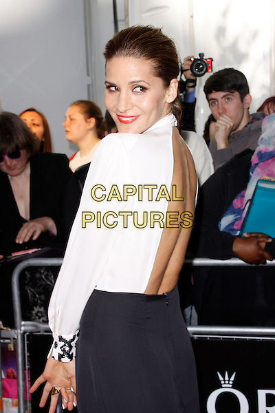 Amanda Byram<br /> Glamour Women Of The Year Awards, Berkeley Square Gardens, London, England. <br /> 4th June, 2013<br /> half length black white top skirt backless side looking over shoulder <br /> CAP/AH<br /> &copy;Adam Houghton/Capital Pictures