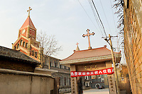 CHINA Province Shaanxi catholic church in Sanyuan / CHINA Provinz Shaanxi , katholische Kirche in Sanyuan