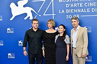 From left, actor Matt Damon, actresses Kristen Wiig and Hong Chau and director Alexander Payne attend a photocall of the movie 'Downsizing' at the 74th Venice Film Festival, Venice Lido, August 30, 2017. <br /> UPDATE IMAGES PRESS/Marilla Sicilia<br /> <br /> *** ONLY FRANCE AND GERMANY SALES ***