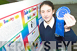 BUDDING SCIENTIST: Ciara Stein a 2nd year student from Presentation Secondary School Tralee came 2nd individual in the Chemical, Mathmatics and Science round of the BT Young Scientist at the weekend.