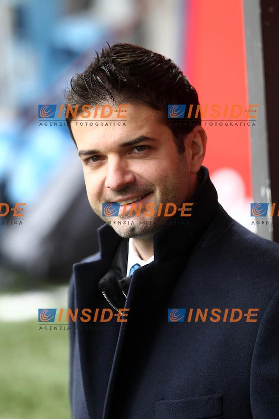 """Andrea Stramaccioni Inter.Milano 22/12/2012 Stadio """"S.Siro"""".Football Calcio Serie A 2012/13.Inter v Genoa.Foto Insidefoto Paolo Nucci."""