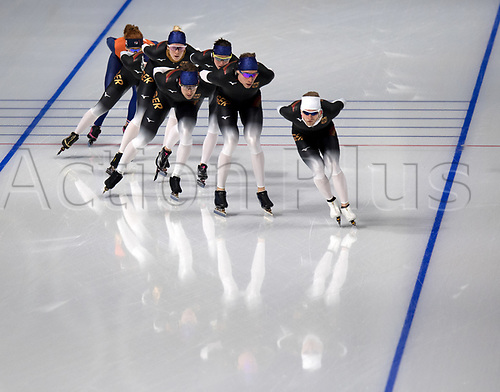 February 6th 2018, Pyeongchang, South Korea, 2018 Olympic Winter games;  German speed skaters train in Gangneung, South Korea. The Winter Olympics take place from 9th to 25th February in Pyeongchang.