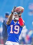 21 September 2014: Buffalo Bills wide receiver Mike Williams warms up prior to facing the San Diego Chargers at Ralph Wilson Stadium in Orchard Park, NY. The Chargers defeated the Bills 22-10 in AFC play. Mandatory Credit: Ed Wolfstein Photo *** RAW (NEF) Image File Available ***