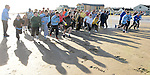 The startb of the 5K run on bettystown Beach in aid of Boomerang Cafe. Photo:Colin Bell/pressphotos.ie
