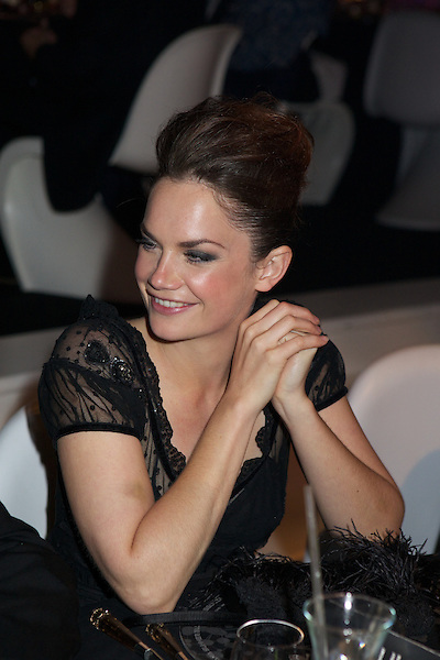 Ruth Wilson listens to speeches at Elton John's White Tie and Tiara Ball