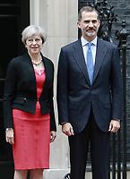 JUL 13 King Felipe VI visits 10 Downing Street