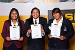 Girls Rugby Union finalists Sia Koloamatangi, Te Kura Ngata-Aerengamate & Aldpra Itunu. ASB College Sport Auckland Secondary School Young Sports Person of the Year Awards held at Eden Park on Thursday 12th of September 2009.
