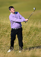 Amateur Kieran McManus hits an approach during Round 2 of the 2015 Alfred Dunhill Links Championship at the Old Course, St Andrews, in Fife, Scotland on 2/10/15.<br /> Picture: Richard Martin-Roberts | Golffile