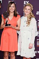 Jessica Ennis-Hill and Laura Kenny<br /> at the BT Sport Industry Awards 2017 at Battersea Evolution, London. <br /> <br /> <br /> &copy;Ash Knotek  D3259  27/04/2017