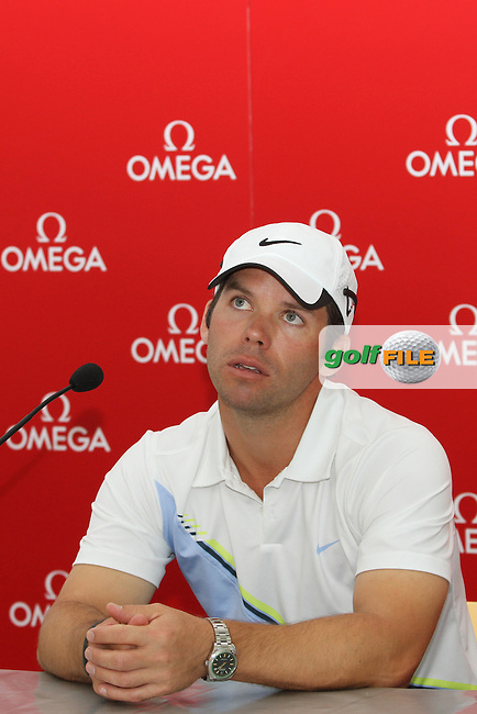 Paul Casey (ENG) in the Interview Room on the Pro Am Day of the Omega European Masters 2012, Golf Club Crans-Sur-Sierre, Crans Montana, Switzerland, 29/8/12...(Photo Jenny Matthews/www.golffile.ie)