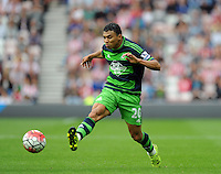 Jefferson Montero of Swansea City during the Barclays Premier League match between Sunderland and Swansea City played at Stadium of Light, Sunderland