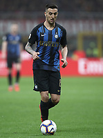 Calcio, Serie A: AC Milan - Inter Milan, Giuseppe Meazza (San Siro) stadium, Milan on 17 March 2019.  <br /> Inter's Matias Vecinoin action during the Italian Serie A football match between Milan and Inter Milan at Giuseppe Meazza stadium, on 17 March 2019. <br /> UPDATE IMAGES PRESS/Isabella Bonotto
