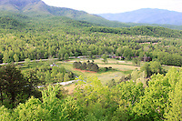 Stock photo of a picturesque valley in the lap of the great smoky mountains America.