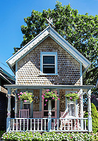 Campground cottage, Oak Bluffs, Martha's Vineyard, Massachusetts, USA