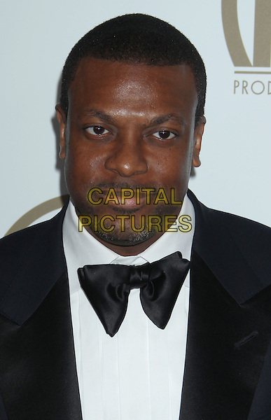 Chris Tucker.At the 24th Annual Producers Guild Awards held at the Beverly Hilton Hotel, Beverly Hills, California, USA,.26th January 2013..PGAs PGA arrivals headshot portrait bow tie black  goatee facial hair white shirt.CAP/ADM/RE.©Russ Elliot/AdMedia/Capital Pictures.