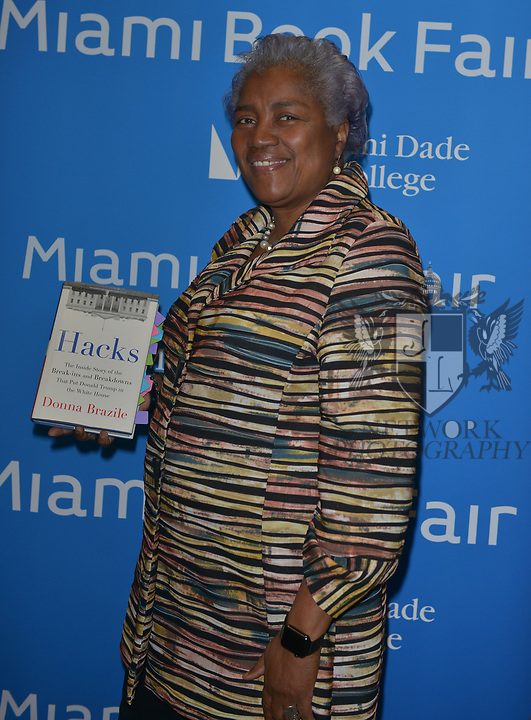 MIAMI, FL - NOVEMBER 15: Donna Brazile in conversation with Ana Navaro during The Miami Book Fair at Miami Dade College Wolfson - Chapman Conference Center on November 15, 2017 in Miami, Florida. ( Photo by Johnny Louis / jlnphotography.com )