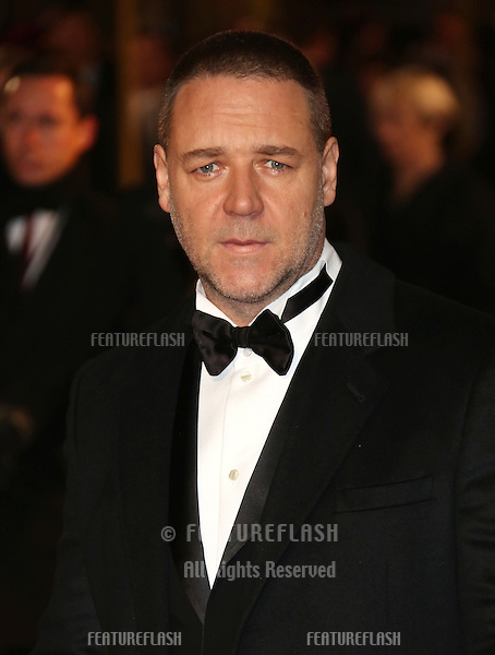 Russell Crowe arriving at the World Premiere of 'Les Miserables' held at the Odeon & Empire Leicester Square, London. 05/12/2012 Picture by: Henry Harris / Featureflash