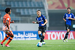 Gamba Osaka Midfielder Ideguchi Yosuke (R) in action during the AFC Champions League 2017 Group H match Between Jeju United FC (KOR) vs Gamba Osaka (JPN) at the Jeju World Cup Stadium on 09 May 2017 in Jeju, South Korea. Photo by Marcio Rodrigo Machado / Power Sport Images
