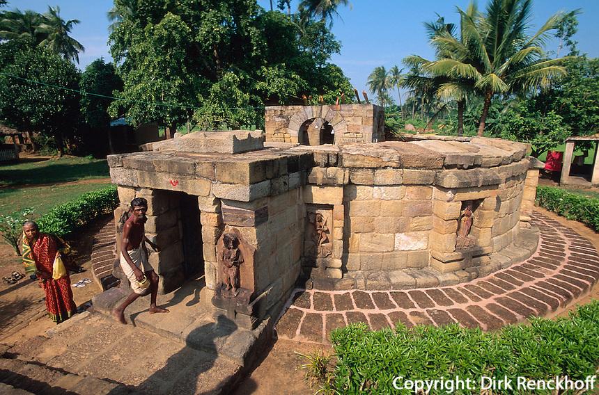 tantrischer Tempel Yogiri,  Hirapur bei Bhubaneswar, Orissa, Indien.