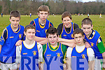 Boy's from Milltown Presentation Secondary school who ran in the Vocational Schools Cross Country championships in Killarney on Wednesday front row l-r: Tadgh McCarthy, James O'Connor, Lee Loughlin. Back row: Peader Keane, Cian Ronan, Oisin Sheehan and Gavin McKenna....