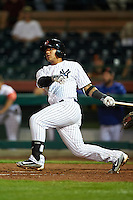 Scottsdale Scorpions Gleyber Torres (17), of the New York Yankees organization, during a game against the Glendale Desert Dogs on October 14, 2016 at Scottsdale Stadium in Scottsdale, Arizona.  Scottsdale defeated Glendale 8-7.  (Mike Janes/Four Seam Images)