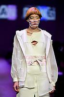 7 September 2017, Melbourne - Model parades design by student Xuan Dong during the Melbourne Fashion Week in Melbourne, Australia. (Photo Sydney Low / asteriskimages.com)