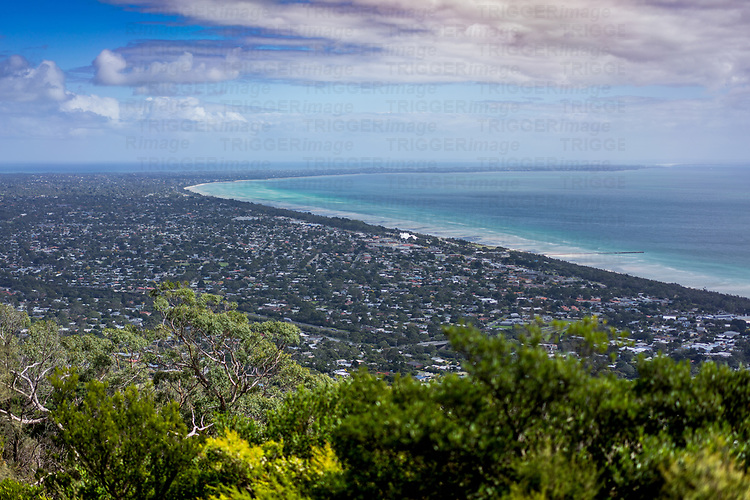 View from Arthurs Seat Park near Melbourne in Australia