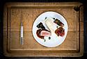 1/07/18 - PONT D ALLEYRAS - HAUTE LOIRE - FRANCE - Etablissement Le Haut Allier. Boeuf Fin Gras du Mezenc et echalottes, recette preparee par Philippe Brun, une etoile au Michelin - Photo Jerome CHABANNE