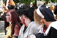 3 participant in the Zombie Walk in Prague, May 2012.