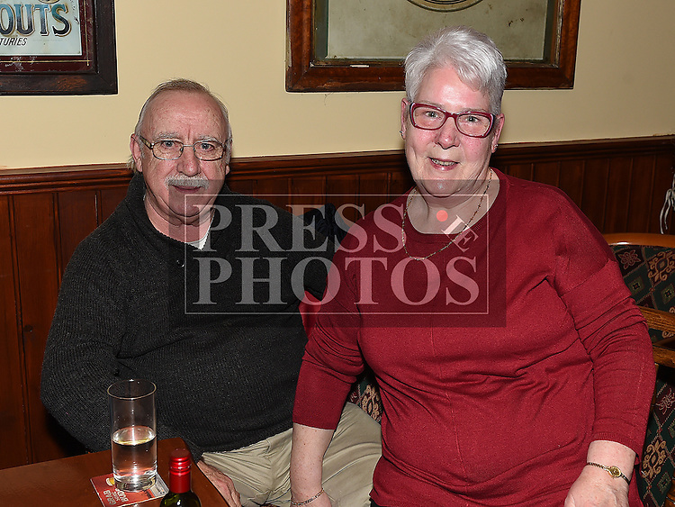 Tony and Bernadette Grogan at the special night for the late Francie and Angela Taaffe in Connor's pub Dunleer. Photo:Colin Bell/pressphotos.ie