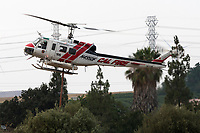 Bell UH-1H Iroquois N495DF operating out of Meadowlark Field in Livermore, California, in response to the 2020 SCU Lightning Complex fires. <br /> N495DF was originally built for the Army as 69-15930 and is currently operated by Cal Fire and the US Forest Service based at the Alma Helitack base in Santa Cruz.