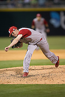 North Carolina State Wolfpack relief pitcher Will Gilbert (51) in action against the Charlotte 49ers at BB&T Ballpark on March 31, 2015 in Charlotte, North Carolina.  The Wolfpack defeated the 49ers 10-6.  (Brian Westerholt/Four Seam Images)