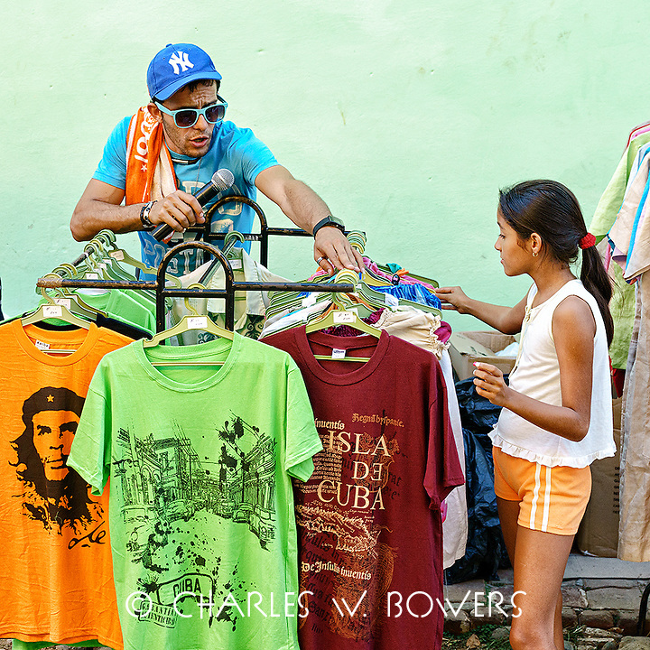 Faces Of Cuba - At a celebration you must always buy a T-Shirt<br /> <br /> -Limited Edition of 50 prints.