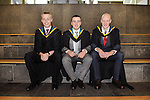 24/10/2014  With Compliments, Attending The Mary Immaculate College Conferrings were Sean Hickey, Rearcross, Tipperary, Michael O' Sullivan, Carrigadrohid, Cork and Sean Kearney, Galbally, Co. Limerick, who were all conferred with a Bachelor of Education (B.Ed)<br /> Pic: Gareth Williams / Press 22