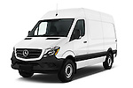 2017 Mercedes Benz Sprinter 2500-144-WB-High-Roof 4 Door Cargo Van Angular Front stock photos of front three quarter view
