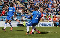 Fleetwood Town's Kyle Dempsey scores his sides third goal <br /> <br /> Photographer Rob Newell/CameraSport<br /> <br /> The EFL Sky Bet League One - Gillingham v Fleetwood Town - Saturday 22nd April 2017 - MEMS Priestfield Stadium - Gillingham<br /> <br /> World Copyright &not;&copy; 2017 CameraSport. All rights reserved. 43 Linden Ave. Countesthorpe. Leicester. England. LE8 5PG - Tel: +44 (0) 116 277 4147 - admin@camerasport.com - www.camerasport.com