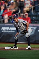 ***Temporary Unedited Reference File***Northwest Arkansas Naturals first baseman Mauricio Ramos (3) during a game against the Springfield Cardinals on April 26, 2016 at Hammons Field in Springfield, Missouri.  Northwest Arkansas defeated Springfield 5-2.  (Mike Janes/Four Seam Images)