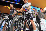 Juraj Sagan (SVK) Bora-Hansgrohe team on stage at the Team Presentation in Burgplatz Dusseldorf before the 104th edition of the Tour de France 2017, Dusseldorf, Germany. 29th June 2017.<br /> Picture: Eoin Clarke | Cyclefile<br /> <br /> <br /> All photos usage must carry mandatory copyright credit (&copy; Cyclefile | Eoin Clarke)