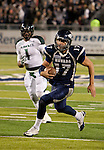 November 12, 2011:   Nevada Wolf Pack quarterback Cody Fajardo scrambles for a 25 touchdown in the second half against the Hawaii Warriors during a WAC league game played at Mackay Stadium in Reno, Nevada.